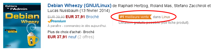 N°1 dans la section Linux